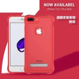 Handy-China-roter Verteidigung-Halter-transparenter Schoner-Fall-Deckel für iPhone 7 plus 4.7 5.5
