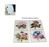Coaster cerâmico decorativo do copo Sets4 da flor a mais nova gasto