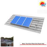 Kits solares de aluminio del sistema del montaje de la azotea de la potencia verde (XL209)