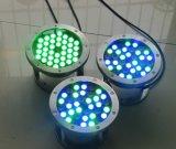 Lámpara subacuática de la fuente de la alta calidad 1With3W LED Light/LED del precio de fábrica de Yaye 18 con la garantía del Ce/RoHS/2years