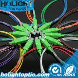 12의 색깔 광섬유 떠꺼머리 Sc APC 심플렉스 0.9mm