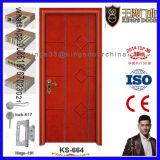 Form angestrichene einzelne hölzerne Türen