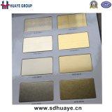 Piatto decorativo dell'acciaio inossidabile di colore dell'oro di PVD