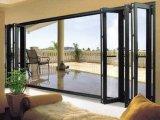 Portão Dobrável De Pátio De Vidro De Alumínio Com Tela