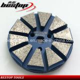 """3 """" de Klitband Gesteunde Oppoetsende Hulpmiddelen van de Malende Schijf van de Diamant Concrete"""