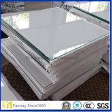 Vidrio de flotador claro al por mayor grande para el marco o muebles con el empaquetado de madera del caso