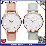 Do couro ocasional Charming do relógio de senhoras de quartzo da moda do relógio das mulheres da promoção Yxl-274 o aço inoxidável automático projeta relógios de forma