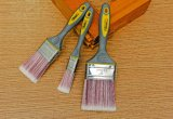 """pinceau de peinture de 2.5 """" outils avec les brins synthétiques affilés et le traitement de TPR"""