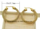 Pendiente del oro del laminado del acero inoxidable de la alta calidad de la joyería de Shineme (ERS6976)