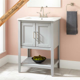 Meubles de salle de bains de Module de vanité de salle de bains en bois solide de modèle simple