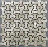 光沢のある骨の形の石造りのタイル