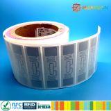 Tag em branco da freqüência ultraelevada RFID do estrangeiro Higgs3 da etiqueta do programa ALN9662 da MPE