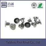 ribattino d'acciaio tubolare pieno capo piano del sensore placcato zinco di 6.1X7.3mm