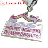 O esmalte cortado metal da forma ostenta a medalha para campeonatos