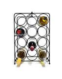 Crémaillère de vin en métal pour les bouteilles modernes du modèle 12 d'art de défilement d'étage