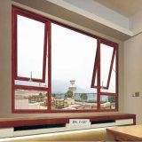 Disegno di legno del blocco per grafici del portello e di finestra del teck di disegno di legno di alluminio della finestra