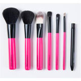 jogo de escova profissional cor-de-rosa da composição 7PCS para o presente relativo à promoção