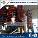 Concentrador del espiral de la gravedad de la eficacia alta para la explotación minera mineral