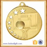 Morrer a medalha chapeada do jogo de basquetebol da carcaça ouro oco