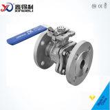 Le PC 300lbs de l'usine 2 de la Chine a bridé robinet à tournant sphérique de flottement de fin