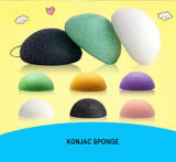 Konjac Sponge Beauty Essentials 100% Natural Konjac Facial Wash Limpieza Cosmética Puff Verde Carbón Blanco