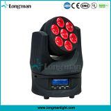 Endlose Roating 7*15W RGBW LED bewegliche Hauptberufsdisco-Beleuchtung