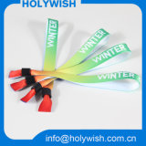 Fabrication de logo personnalisé Fabric Party City Wristbands