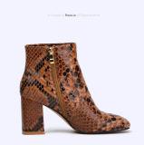 (Donna-в) ботинки лодыжки женщин сексуальной кожи змейки ретро