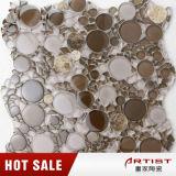 Mosaico rotondo delle mattonelle di vetro per il mosaico rotondo e casuale del giardino, di figura