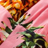 셔츠 최고 여자 포도 수확 Rockabilly 튜닉 2017년 파인애플 짧은 소매