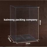 Caixa de dobramento desobstruída transparente pura do empacotamento plástico do animal de estimação em 15X15X20cm (caixa do empacotamento plástico)