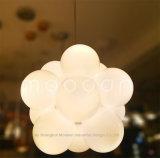 顧客用現代Opal白いガラス子供の子供部屋LEDの気球の中断ライト