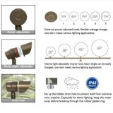 Tudo em um: 3With6With9With13With17W 20&deg Potência-Ajustável; 38° 45° 60° 12V Feixe-Ângulo-Ajustáveis Waterproof a iluminação Multifunctional da paisagem do diodo emissor de luz IP65