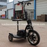 3車輪のバスケットが付いている電気観光の手段の移動性の電気スクーター350W