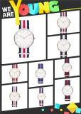 Quarz-Uhr der Form-Uhr-Edelstahl-Dame-Männer (DC-469)