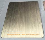 Délié décoratif de finition de cuivre de plaque de feuille d'acier inoxydable