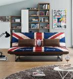 すべての金属フレームおよび5つの調節可能な位置の広いマットレスのあるソファー