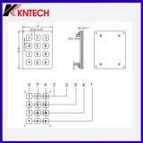 Telclado numérico del panel del acero inoxidable con 12 claves