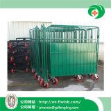 Подгонянная складывая ручная тележка металла для хранения пакгауза с Ce