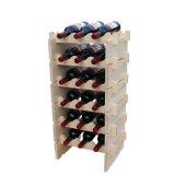 Armário do Wardrobe da mobília de madeira de madeira clássica do gabinete do vinho da cremalheira multi