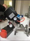 De van een flens voorzien Pneumatische Kleppen van de Zetel van de Hoek met Instelmechanisme Yt1000L