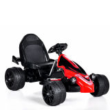 Elettrico Guidare-sul nero Car- Kart (una batteria di telecomando del giocattolo dei bambini del motore uno)