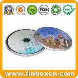 Runder CD Zinn-Kasten, Beutel des MetallDVD, CD Fall-Zinn