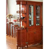 Cremalheira de madeira do vinho para gabinetes da mobília da sala de visitas