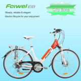 Bici eléctrica de Saled de la ciudad caliente del marco abierto con la batería del desbloquear rápido