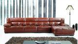 Sofá Home moderno do couro da sala de visitas da mobília (UL-NS232)