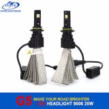 Bulbos autos 6500k de la linterna del coche LED de la lámpara G5 de Fanless 20W 2600lm LED
