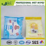 Trapos mojados antisépticos del animal doméstico del cuidado de piel de la limpieza