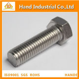 Duples acero inoxidable 2205 DIN933 tornillo hexagonal