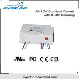 programa piloto constante de la corriente LED de 24~50W 25~40V con 0-10V que amortigua